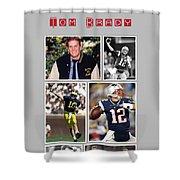 Tom Brady Football Goat Shower Curtain