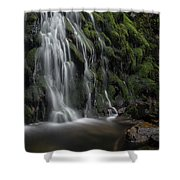 Tom Gill Waterfall, Cumbria, England Shower Curtain