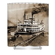 Tom Greene River Boat Shower Curtain
