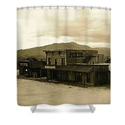 Tom Horn Set Overview Mescal Arizona 1980 Shower Curtain