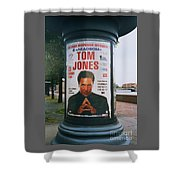 A Rare Collectible Poster Of Tom Jones In Russia Shower Curtain