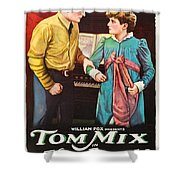 Tom Mix In The Feud 1919 Shower Curtain