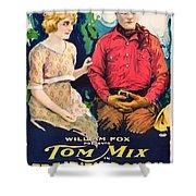 Tom Mix In Treat'em Rough 1919 Shower Curtain