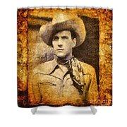 Tom Tyler, Vintage Western Actor Shower Curtain