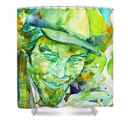 Tom Waits - Watercolor Portrait.5 Shower Curtain