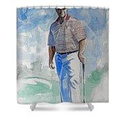 Tom Watson In Dubai Shower Curtain