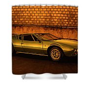 Tomaso Mangusta Mixed Media Shower Curtain