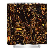 Tomatillo Abstract #2 Shower Curtain
