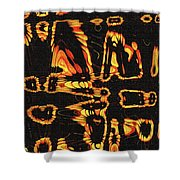 Tomatillo Abstract Shower Curtain