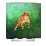 Tomato Frog Shower Curtain