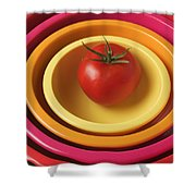 Tomato In Mixing Bowls Shower Curtain