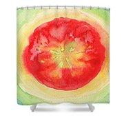 Fresh Tomato Shower Curtain