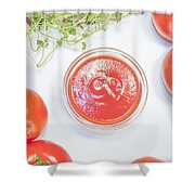Tomato Sauce Bowl Shower Curtain