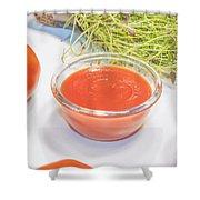 Tomato Sauce Shower Curtain