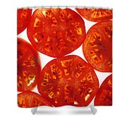 Tomato Slices Shower Curtain