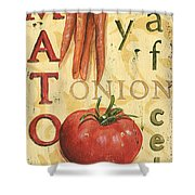 Tomato Soup Shower Curtain by Debbie DeWitt