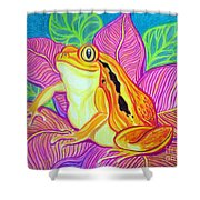 Tomatoe Frog Shower Curtain