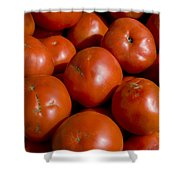 Tomatoes Sit In The Sun Awaiting Buyers Shower Curtain