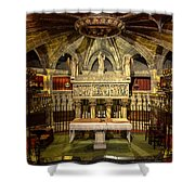 Tomb Of Saint Eulalia In The Crypt Of Barcelona Cathedral Shower Curtain
