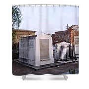 Tombs In St. Louis Cemetery Shower Curtain