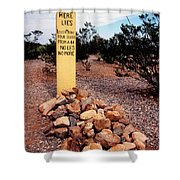 Tombstone Boot Hill Shower Curtain