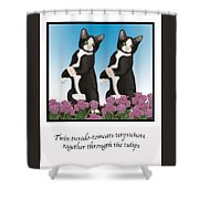 Twin Tuxedo-tomcats Terpsichore Shower Curtain