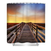 Tomorrow Never Knows Shower Curtain