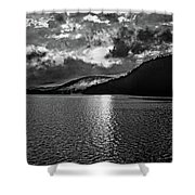 Tomorrow's Adventure Bw Shower Curtain