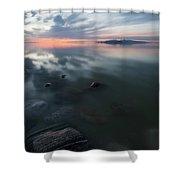 Tonal Sunset II Shower Curtain