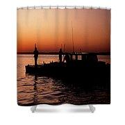 Tonger's Sunrise Shower Curtain by Skip Willits
