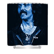 Blue Fluff Shower Curtain