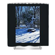 Too Cold To Picnic Shower Curtain