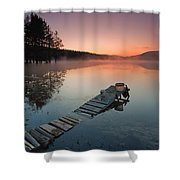 Too Early For Fishing Shower Curtain