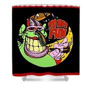 Too Much Fun Ozone Guy Shower Curtain