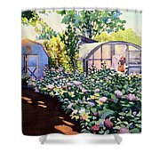 Tool Shed And The Greenhouse Shower Curtain