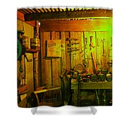 Tool Shed Shower Curtain