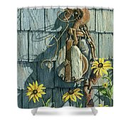 Tool Shed Treasures Shower Curtain