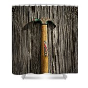 Tools On Wood 17 Shower Curtain by Yo Pedro