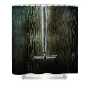 Tools On Wood 22 Shower Curtain