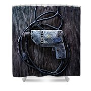 Tools On Wood 28 Shower Curtain