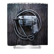 Tools On Wood 30 Shower Curtain