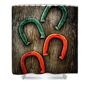Tools On Wood 33 Shower Curtain by Yo Pedro