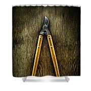 Tools On Wood 34 Shower Curtain