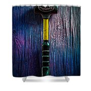 Tools On Wood 44 Shower Curtain