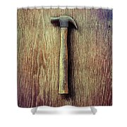 Tools On Wood 53 Shower Curtain