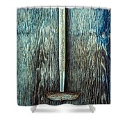 Tools On Wood 55 Shower Curtain