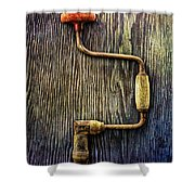 Tools On Wood 58 Shower Curtain
