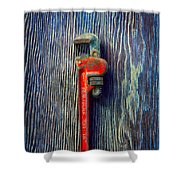 Tools On Wood 62 Shower Curtain