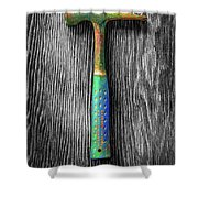 Tools On Wood 63 On Bw Shower Curtain