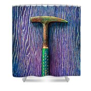 Tools On Wood 64 Shower Curtain